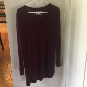 Women's Tunic. Pure + Good Purple long sleeves